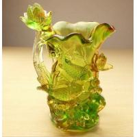 Buy cheap Pate de verre liu li fish and flower vase for decorations from wholesalers