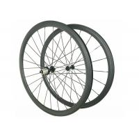 Buy cheap Straight Pull Hub 30MM Custom Bike Wheels , 23MM 700C Carbon Road Cycling Wheels from wholesalers