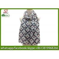 Buy cheap China trader oversized herringbone long print scarf muffler 90*180cm 100% Polyester pashmina keep in uniforms from wholesalers
