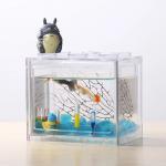 Buy cheap Acrylic Fish Tank Aquarium  Office Mini Cuboid Fish Tank Cylinder Round Acrylic coffee table Betta Fish Tank out door from wholesalers