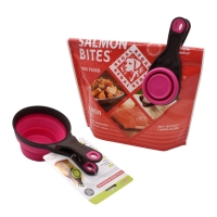 Buy cheap dog food bag clip and scoop pet food bag with spoon  fold the dog food spoon from wholesalers