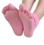 Buy cheap Non Slip Full Toe Women & Men Pilates Strong Grip Five Finger Socks from wholesalers