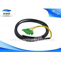 Buy cheap 4 / 8 / 12 Core Waterproof Fiber Pigtails Patch Cords , SC APC Multi Mode Fiber Pigtail from wholesalers