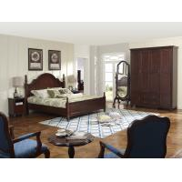Buy cheap Rubber Wood made bedroom furniture American style design for Luxury Apartment product