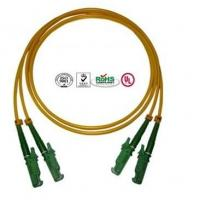 Buy cheap 0.9mm PVC E2000 Fiber Optic Patch Cables Single Mode Double Cores from wholesalers
