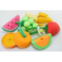 Buy cheap SOODODO Hot Sale 3D Mini Fruit Shaped TPR Eraser From China from wholesalers