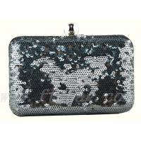 Buy cheap 2013 most popular black color sequin evening handbag from wholesalers