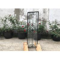 Buy cheap Square Top Eyebrow Wrought Iron Glass Galvanized Steel Anti Rusting from wholesalers