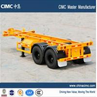 Buy cheap CIMC tri-axle 30 tons 20 foot skeletal container chassis trailer from wholesalers