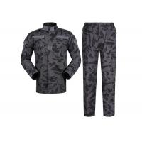 Buy cheap Night Camo Army Military Uniforms For Outdoor Duty 65% Polyester 35% Cotton from wholesalers