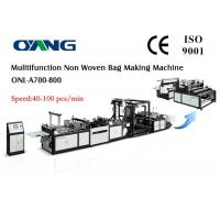 Buy cheap Eco Recycled Automatic Non Woven Bag Making Machine , Carry Bags Manufacturing Machines from wholesalers