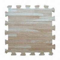 Buy cheap Wooden Grain Foam Mats with 35 to 40C Hardness from wholesalers