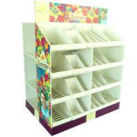 Buy cheap Eco - friendly Floor Corrugated Display Stands For Greeting Card from wholesalers