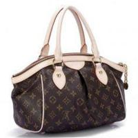 Buy cheap Lady's Golden Brass Canvas LV Monogram Handbags Tivoli PM with Oxidizing Leather Handle from wholesalers