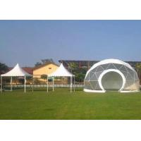 Buy cheap Large Geodesic Dome Tent Marquee Greenhouse 20m Diameter With Whtie Fabric PVC Cover from wholesalers