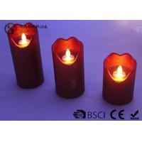 China Energy Saving Dancing Flame Led Candle With Moving Wick 210 / 280 / 320g on sale