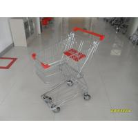 Buy cheap 60L Store Wire Shopping Trolley  Carts with 4 Swivel 4 Inch PU Wheels from wholesalers
