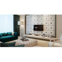 Buy cheap Wall Art Decals Leather Fabric Wall Panel / 3 Dimensional Wallpaper for Interior Wall Paneling from wholesalers