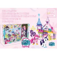 Buy cheap Lighting Plastic Castle Building Blocks Educational Toys Set With 3 X AG13 Button Cell Batteries 68Pcs product