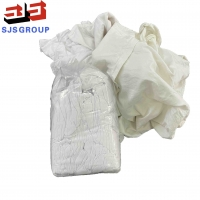 Buy cheap Industrial Cleaning White T Shirt 100 Cotton Rags With No Zipper from wholesalers