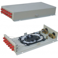 Buy cheap 48 Core Wall Mounted FC ST ROSH Optical Junction Box from wholesalers