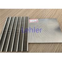 Buy cheap Slot 60 Microns Johnson Wedge Wire Screens For Static Sieves / Dewatering from wholesalers