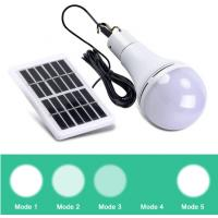 Buy cheap Portable 5 Modes Changeable Solar Bulb 7W 9W Outdoor Solar Panel Light USB Rechargeable Tent Camping Light Bulb from wholesalers