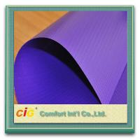 Buy cheap Blue 500D Density Waterproof Plastic Tarpaulin 200gsm PVC Coated Polyester Fabric product