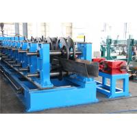 Buy cheap 2.0-5.0mm Thickness Galvanized Gutter Roll Forming Machine Gear Box 22KW product