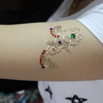 Buy cheap Metallic Temporary Rhinestone Eye Tattoos Stickers With Fake Gem Stylish from wholesalers