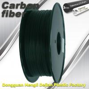 Buy cheap High Strength Carbon Fibre 3D Printer Filament 1.75 Mm Scrub Black 220°C Melt Print product