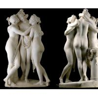 Buy cheap Art Stone carving three grace lady marble statues for museum,stone carving supplier from wholesalers