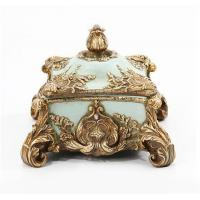 Buy cheap Baroque Antique French Jewelry Box , Rectangle Jeweled Trinket Boxes from wholesalers