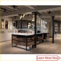 Buy cheap Glass jewelry display furniture, glass display counter showcase, glass showcase jewelry vitrine from wholesalers