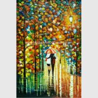 Buy cheap Handmade knife art painting on Canvas Colourful Night View for Wall Decoration from wholesalers