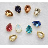 Buy cheap Flat Back Sew on Rhinestones teardrop 13*18mm Crystal Glass Stone Beads for Clothing Decoration from wholesalers