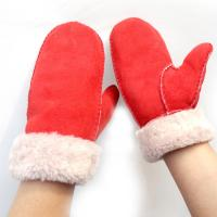Buy cheap New Fashion Wholesale Hand Sewing Spanish Merino Shearling Sheep Skin Mitten Double Face Lamb fur Leather Winter Gloves from wholesalers