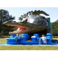Buy cheap Alligator Waterproof Comercial Outdoor Wet Kids Inflatable Slide PVC Tarpaulin from wholesalers