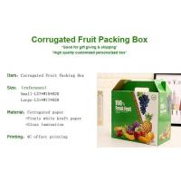 Buy cheap corrugated fruit packing box, kraft paper, gloss lamination, offset printing, foldable box,flower cone,flowral packaging from wholesalers