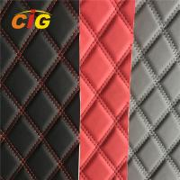 Buy cheap New Design Car Seat Car Floor Embroidery PVC leather with Foam with Non-woven from wholesalers