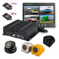 Buy cheap AHD Four in one 4 cameras Dual SD Card Mobile DVR with 3G / 4G GPS WIFI , 1080P resolution product