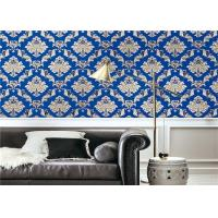 Buy cheap Blue Waterproof Classic Vintage Wallpaper For Walls Background , Vinyl Materials product