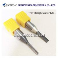 Buy cheap TCT Tungsten Carbide Double Two Straight Flutes CNC Router Cutter Bits from wholesalers