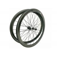 23MM Width 700C Carbon Road Bike Wheels 45MM Clincher With Shiny / Matte Finishing