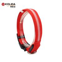 Buy cheap Christmas Polyser Dog Led Collars / LED Flashing Pet Collar For Dogs And Cats from wholesalers