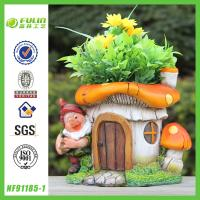 China Decorative Resin Gnome Flower Pot& Planter on sale