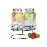 Buy cheap 1.5 gallons Vintage dual beverage dispenser with stand & Storage jars For juicer  , wine drinking product