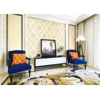 Buy cheap Interior Room Classic Vintage Wallpaper Wet Embossing With Water Based Ink from wholesalers