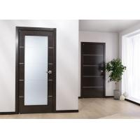 Buy cheap Custom Solid Wood Panel Interior Doors , Modern Style Fireproof Wooden Doors from wholesalers