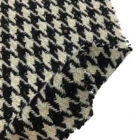 Buy cheap Soft Hand Feeling Heavy Wool Fabric / Tweed Houndstooth Fabric For Fashion Coat from wholesalers